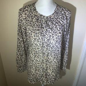 Loft leopard print blouse!